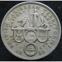 Бр. Карибские острова 50 центов 1955 (430)