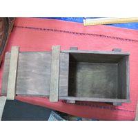 Коробка фанерная, шкатулка 21х15х16 см.
