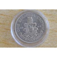 Бермуды 1 крона 1964(серебро)   Редкая!