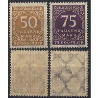 1923 - Германия - Стандарт Цифры Mi.275-76 **