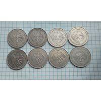 Германия 2 марки  Конрад Аденауэр. 1970-J 1972-D-G 1977-D 1978-F 1982-F 1987-J цена за 1 монету