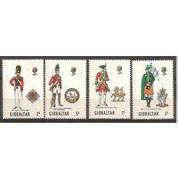 Гибралтар 1970 Военная форма MNH**
