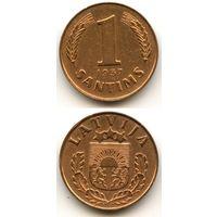 Латвия 1 сантим 1937 г. KM#10
