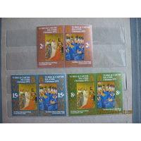 Тёркс и Кайкос  о-ва. Рождество. Французская школа иконописи. 6 марок, большой формат. 1971г. полная серия.