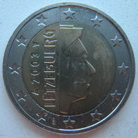 Люксембург 2 евро 2003 г. UNC