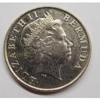 Бермудские острова 25 центов 2009 г