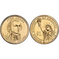 США 1 Доллар 2007 2 президент Джон Адамс