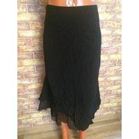 Фирменная черная юбка Steilmann Германия на 46-48 размер. ПОталии42см, длина 74 см. Обмен не интересует