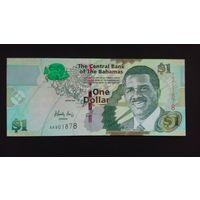 1 доллар 2008 года. Багамские острова. UNC. Распродажа
