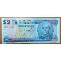 2 доллара 2012 года - Барбадос - UNC