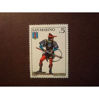 Сан-Марино 1973 г.Лучник замка Серравалле.