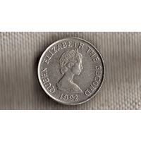 Джерси 10 пенсов 1992(NS)
