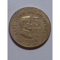 Филиппины 5 писо 1998