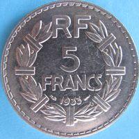 1k Франция 5 франков 1933 В ХОЛДЕРЕ распродажа коллекции