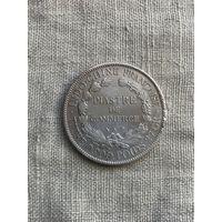 Французский Индокитай 1 пиастр 1903 г., оригинал