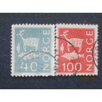 Марки Норвегия 1968,1973 годы Стандартный выпуск