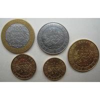 Центральная Африка 100, 50, 25, 10, 5 франков 2006 г. Цена за набор (u)