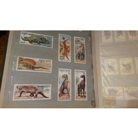 Динозавры, фауна, марки Кампучия 1986
