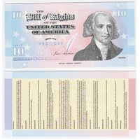 United States Of America - Bill Of Rights - 10 Amendments - 2011 - Polymer - UNC