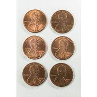 1 цент США 1995 D. Поштучно
