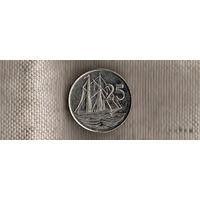 Каймановы острова 25 центов 2005/корабль(Xt)