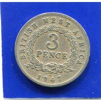 Британская Западная Африка 3 пенса 1947 Н