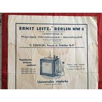 Реклама фирмы Ernst Leitz 1930-е годы