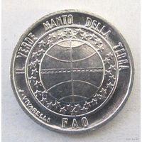 Сан-Марино 1 лира 1977 ФАО - экология, UNC