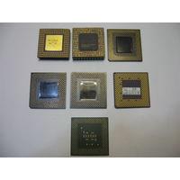 Набор компьютерных ретро-процессоров (7 шт.)