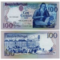 Португалия. 100 эскудо (образца 1980 года, P178a, подпись 3, aUNC)