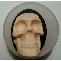 Череп 3D. Силиконовая форма, молд. Для отливки свечей, торта, мыла, гипса, льда