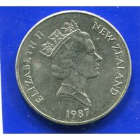 Новая Зеландия 20 центов 1987