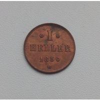 ГЕССЕН-ДАРМШТАДТ  1 геллер 1850 г.