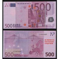 Сувенир - Евросоюз 500 евро 2002 год na04 торг заоблачный