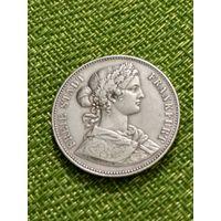Франкфурт 1 талер 1862 год  Серебро 18.5 г тираж 312 000 штук