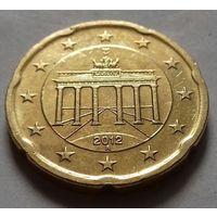 20 евроцентов, Германия 2012 A, AU
