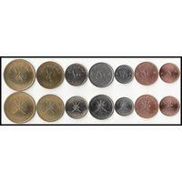 Оман полный набор 7 монет UNC