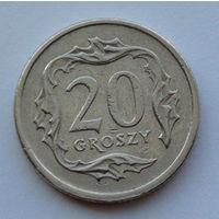 Польша 20 грошей. 2000
