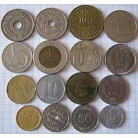 Набор иностранных монет 16 шт., в приятном состоянии!