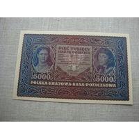 5000 марок 1919 Польша aUnc
