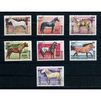 Кампучия 1986г, породы лошадей, 7шт