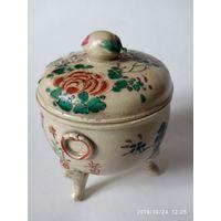 Древняя чаша , ваза ,курильница . Япония .Подпись мастера .