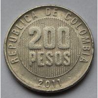 Колумбия, 200 песо 2011 г.