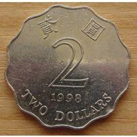 ГОНКОНГ, Протекторат Китая (после 1997г.) 2доллара1998г. KM# 64