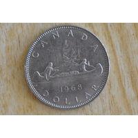 Канада 1 доллар 1968