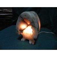 С 1 рубля!Ночник,светильник Избушка на курьих ножках.Крошка мраморная.