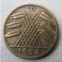 Германия. 10 рентенпфеннигов 1924 D .85