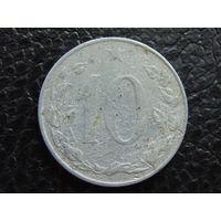 Чехословакия 10 геллеров 1956 г.