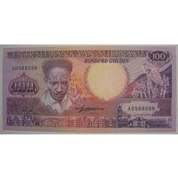 Суринам 100 гульденов 1988 г. (g)