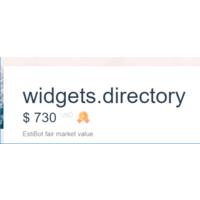 Widgets.directory ($730 по оценке EstiBot)